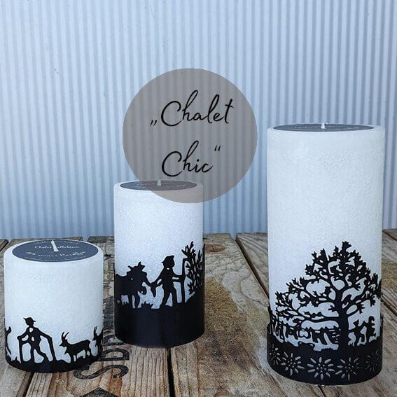 Kerzen mit Metallring Baum Alpaufzug kaufen